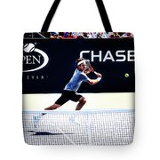 Flying Federer  Tote Bag by Nishanth Gopinathan