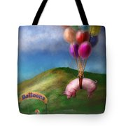 Flying Pig - Child - How I Wish I Were A Bird Tote Bag by Mike Savad
