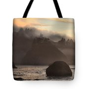 Fog Over Trinidad Tote Bag by Adam Jewell