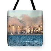 Fog Rolling In Tote Bag by James Wheeler