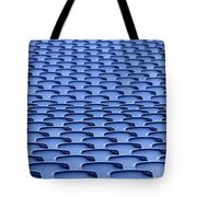 Folding Plastic Blue Seats Tote Bag by Dutourdumonde Photography