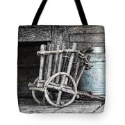 Folk Art Cart Still Life Tote Bag by Tom Mc Nemar