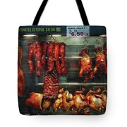 Food - Roast Meat For Sale Tote Bag by Mike Savad