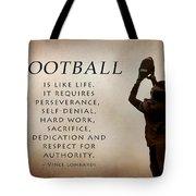 Football Tote Bag by Lori Deiter
