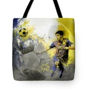 Football Player Tote Bag by Catf