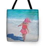 Footprints in the Sand Tote Bag by Holly Kallie