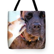 For The Love Of Dogs Tote Bag by Janice Rae Pariza