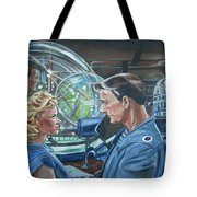Forbidden Planet Tote Bag by Bryan Bustard