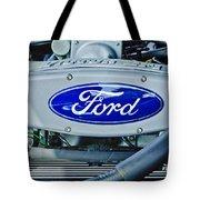 Ford Engine Emblem Tote Bag by Jill Reger