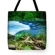Forest Stream Running Fast Tote Bag by Michal Bednarek