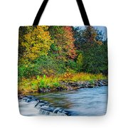 Foretelling Of A Storm Beaver's Bend Broken Bow Fall Foliage Tote Bag by Silvio Ligutti