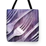 Forks Tote Bag by Priska Wettstein
