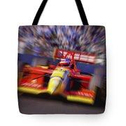Formula Racing Car At Speed Tote Bag by Don Hammond