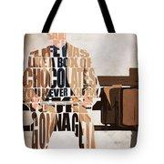 Forrest Gump - Tom Hanks Tote Bag by Ayse Deniz