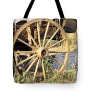 Fort Laramie WY - Moving west on wagon wheels Tote Bag by Christine Till