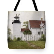 Fort Point Lighthouse Tote Bag by Joan Carroll