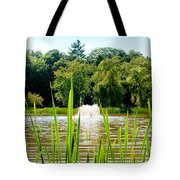Fountain Side Tote Bag by Greg Fortier
