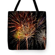 Fourth Of July Fireworks Tote Bag by Saija  Lehtonen