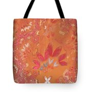 Fractal - Abstract - Japanese Motif Tote Bag by Mike Savad