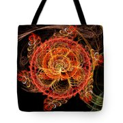 Fractal - Abstract - Mardi Gras Molecule Tote Bag by Mike Savad