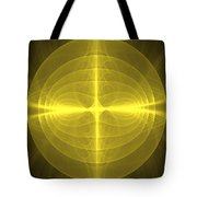 Fractal - Christ - Holy Cross Tote Bag by Mike Savad