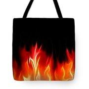 Fractal Flames Tote Bag by Antony McAulay