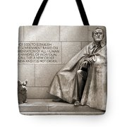Franklin Delano Roosevelt Memorial - Bits And Pieces 7 Tote Bag by Mike McGlothlen