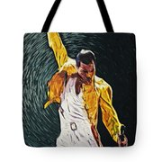 Freddie Mercury Tote Bag by Taylan Soyturk