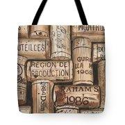 French Corks Tote Bag by Debbie DeWitt