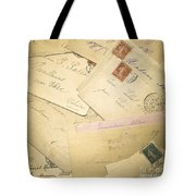 French Correspondence From Ww1 #2 Tote Bag by Jan Bickerton