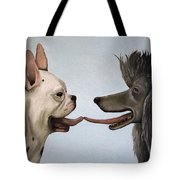 French Kiss Tote Bag by Leah Saulnier The Painting Maniac