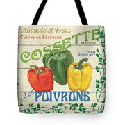 French Veggie Sign 4 Tote Bag by Debbie DeWitt