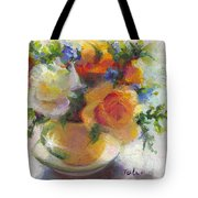 Fresh - Roses In Teacup Tote Bag by Talya Johnson