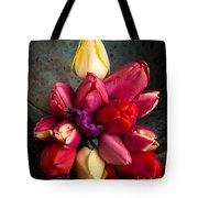 Fresh Spring Tulips Still Life Tote Bag by Edward Fielding