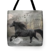 Friesian Fantasy Tote Bag by Fran J Scott