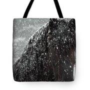 Friesian Snow Tote Bag by Fran J Scott