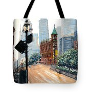 Front And Church Tote Bag by Ian  MacDonald
