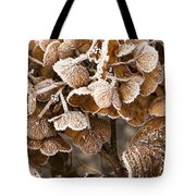 Frosted Hydrangea Tote Bag by Anne Gilbert