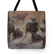 Frosty Morning Tote Bag by Mia DeLode