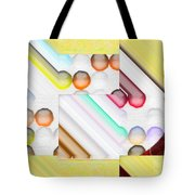 Frosty Painted Marble Weave Tote Bag by Liane Wright
