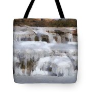 Frozen Falls Tote Bag by Jeff Kolker