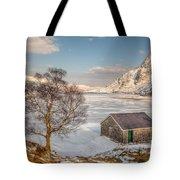 Frozen Lake Ogwen Tote Bag by Adrian Evans