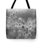 Frozen Teasel Tote Bag by Jean Noren
