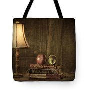 Fruit and Books Tote Bag by Erik Brede
