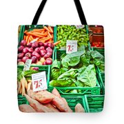 Fruit And Vegetable Stall Tote Bag by Tom Gowanlock