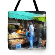 Fruit For Sale Hoboken Nj Tote Bag by Susan Savad