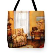 Furniture - Chair - Livingrom Retirement Tote Bag by Mike Savad