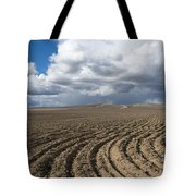 Furrows Before The Storm Tote Bag by Mike  Dawson