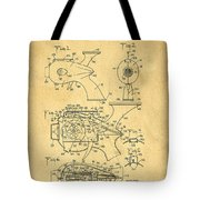 Futuristic Toy Gun Weapon Patent Tote Bag by Edward Fielding