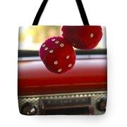 Fuzzy Dice Tote Bag by Jill Reger